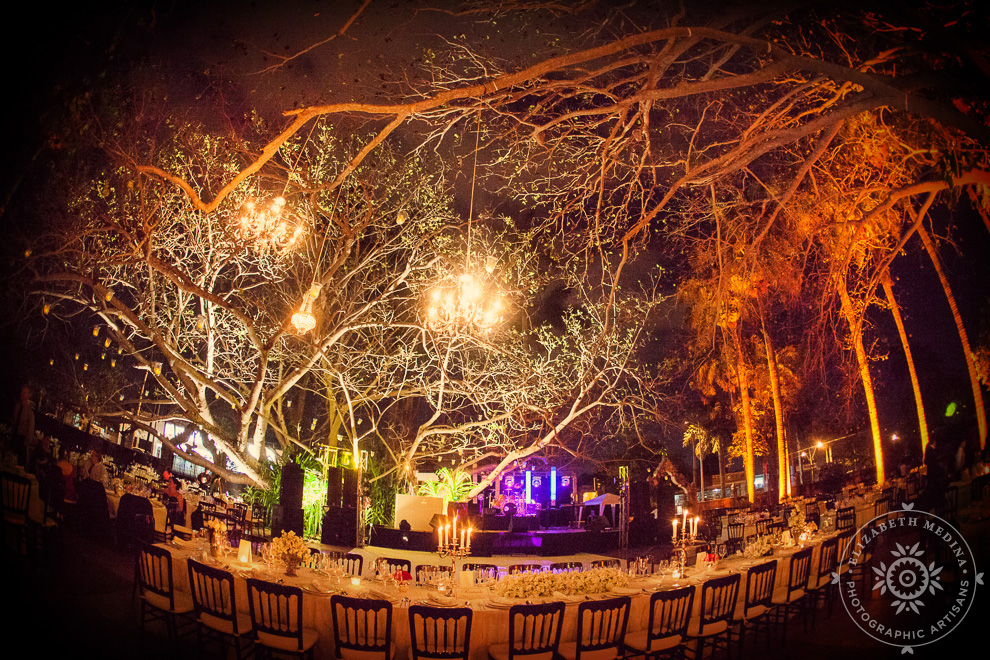 Photography in Yucatan, reception set up