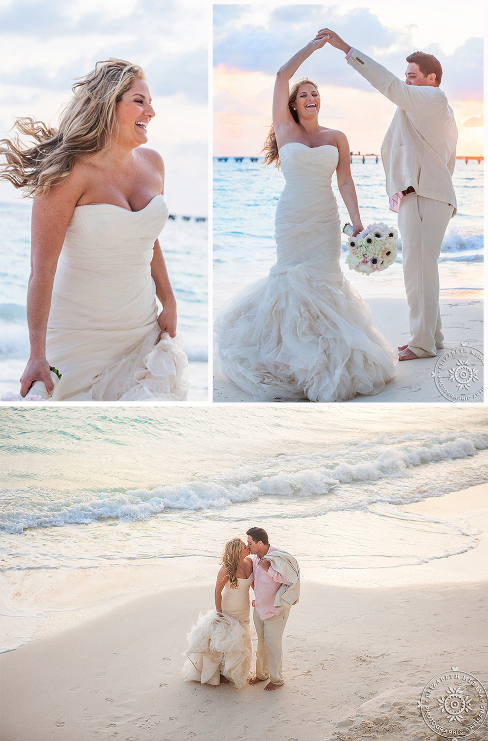cancun_trash the dress photos elizabeth medina 006 Trash the Dress and Wedding Photography, Beach Palace Cancun Mexico