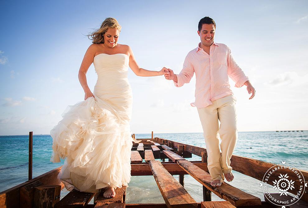 cancun_trash the dress photos elizabeth medina 014 Trash the Dress and Wedding Photography, Beach Palace Cancun Mexico