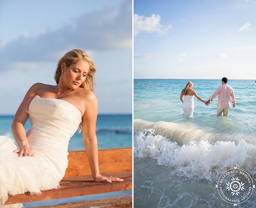 cancun_trash the dress photos elizabeth medina 019 Trash the Dress and Wedding Photography, Beach Palace Cancun Mexico