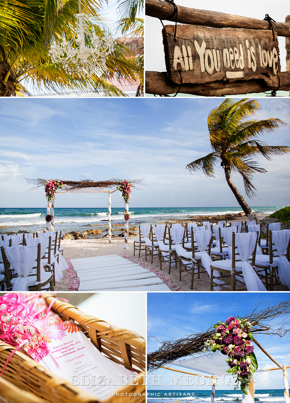 emedina_secret jewel wedding_005 Mayan Riviera Beach Wedding, Laura and Domenik at the Secret Jewel