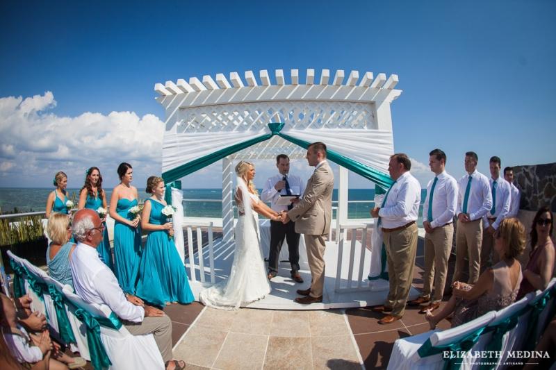 Beach palace skydeck wedding
